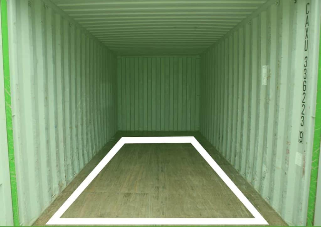 Platz im Container